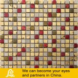 Red and Golden Color Mix Glass Mosaic Tiles 04