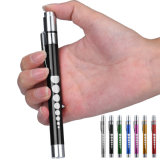 7 Colors Portable Medical First Aid LED Pen Light Torch Doctor Nurse EMT Emergency Flashlight Powered by 2 AA Battery