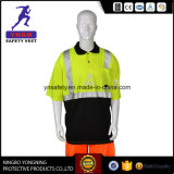 100% Polyester Mesh Fabric Reflective Safety T Shirt En20471