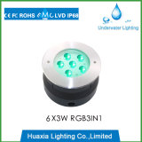 China IP68 6W RGB LED Underwater Light with Ce RoHS