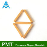 Golden Magnetic Material with Permanent Neodymium Iron Boron (NdFeB)