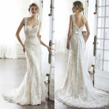 2017 Lace Wedding Gowns Sheath Beading Bridal Wedding Dresses Bz2060