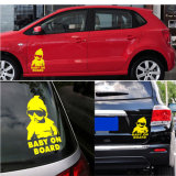 Body Yellow Reflective Film Die Cut Vinyl Decal Graphic Sticker on Car
