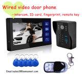 Wired Video Door Phone Doorbell with ID Card, Remote Key, Intercom Function