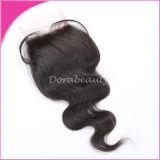 Human Hair Brazilian Lace Closure Remy Virgin Hair
