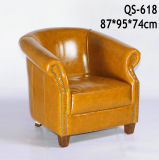 Brown High Quality Living Room Leather Sofa Chair (618)