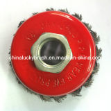 """3"""" 5/8""""-11 Thread Steel Wire Knot Cup Brush (YY-383)"""