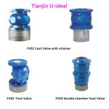 Sure Seal Foot Valve with Strainer; Cast Iron Bottom Valve;
