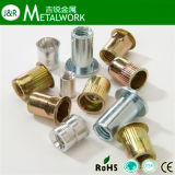 Yellow Zinc Plated Rivet Nut Countersunk Head