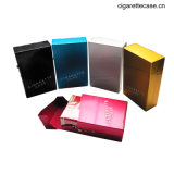 Aluminum Cigarette Case with Magnet Button for 85mm Cigarettes Pack