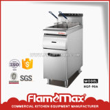 Gas Stainless Steel Chip Fryer with Canbinet for Restaurants Hgf-90A