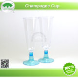 Plastic Champagne Glass with Colour Base