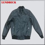 Black PU Jacket for Men Fashion Coat