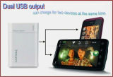 15600mAh Dual USB Portable Power Bank/Mobile Phone Charger with CE/FCC/RoHS Certificates