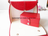 Red Jewelry Case Travel Accessory Mother′s Day Bridesmaid′s Gift Box