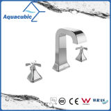 Three Hole Lavatory Faucet Brass Chromed Basin Tap (AF0033-6)