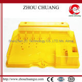 Yellow Color PMMA Material 36-Lock Lockout Station (ZC-S36)