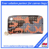 Good Quality PU with Rivet Ladies Wallet (WP-002)