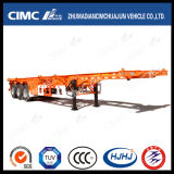 Cimc 3 Axle Skeleton 40FT Container Semi Trailer with Gooseneck or Air Suspension