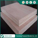 Poplar Core Hardwood Nature Wood Veneer Faced Commercial Plywood