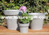 Fo-9705 Tapered Round Decorative Zinc Flower Pot