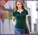 Fashion Sexy Cotton Printed T-Shirt for Women (W279)