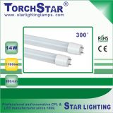 0.9m Plastic 14W 1190lm T8 LED Tube