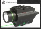 Vectop Optics Doublecross LED Pistol Flashlight Green Laser Combo Sight 200 Lumens Weapon Light Fit 1911 Glock
