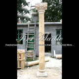 Golden Travertine Column for Home Decoration Mcol-310