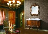 Solid Wood Antique Single Sink Bathroom Cabinets