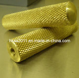 Gold Plated Steel Alloy Knurled Racing Motorcycle Adjustable Foot Pegs