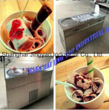 Thailand Double 2 Flat Pan Fried Ice Cream Rolls Machine