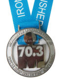 Metal Sports Medal with Ribbon (JJ13-M002)