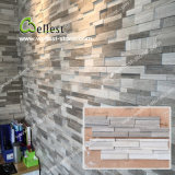 New Design Grey White Wood 3D Marble Stone Panel