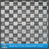 Bianco Carrara White / China Grey Stone Marble Mosaic Wall Tiles