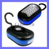 Bathroom Waterproof 27 24 3 LED Magnetic Hook Light Flashlight Lamp (LED-325)