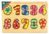 Wooden Puzzle Numbers Peg Puzzle