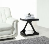 (SJ-129D) Home Furniture Popular Simple Tempered Glass End Table