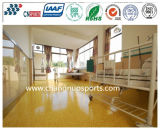Abrasion Resistant Indoor Flooring with Transparent Spua Wearable Surface Layer