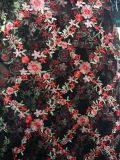 Fashion Rhombus Embroidery Flower Lace Fabric for Lady′s Dress