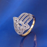 Xuping Two-Tone Hand Finger Ring