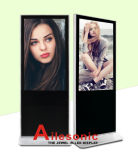 55-Inch LCD Advertising Player Floor Standing with Right Angle, Digital Signage
