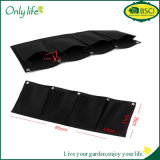 Onlylife Ecofriendly Hanging Grow Bag Black Felt Vertical Planter