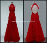 Red Evening Fashion Gowns A-Line Halter Wedding Dresses Z5002