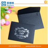 High Quality Hot Stamping Black Card Paper Envelope