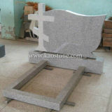 Cross Natural Engraving Granite Tombstone