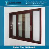 Foshan Best Price Latest Design Wooden Grain Safety Aluminum Windows Interior Aluminium Windows Room Windows
