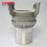 Aluminum Guillemin Coupling Serrated Hose Shank with Locking Ring