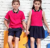New Style OEM Hot Sale Cotton Children School Uniform Polo Shirt for Students Wear