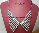 Fashion Jewelry Claw Chain with Crystal Collar Necklace, Fashion Jewelry (SFN0525A)